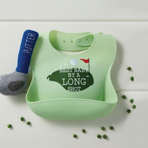 Golf Silicone Rattle/Bib Set