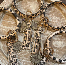 Load image into Gallery viewer, Leopard Repurposed Key Rings