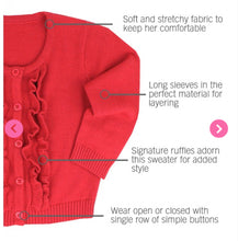 Load image into Gallery viewer, Red Ruffled Cardigan
