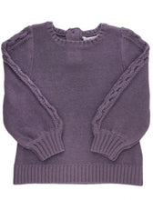 Load image into Gallery viewer, Shadow Purple Cable Sweater