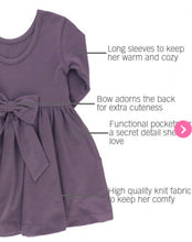 Load image into Gallery viewer, Shadow Purple Twirl Dress