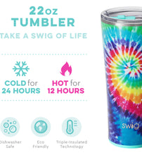 Load image into Gallery viewer, Swirled Peace 22 oz Tumbler