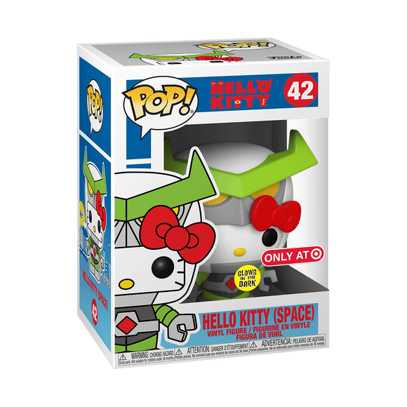 Funko Pop! Hello Kitty - Hello Kitty (Space) exclusiva de Target (Brilla en la Oscuridad)