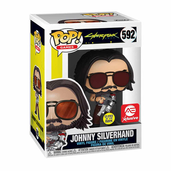 Funko Pop! Cyberpunk 2077 - Johnny Silverhand exclusivo de AE (Brilla en la Oscuridad)