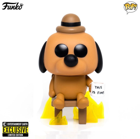 [Pre-Venta] Funko Pop! This is fine Dog exclusivo de Entertainment Earth - Pop Hunters Perú