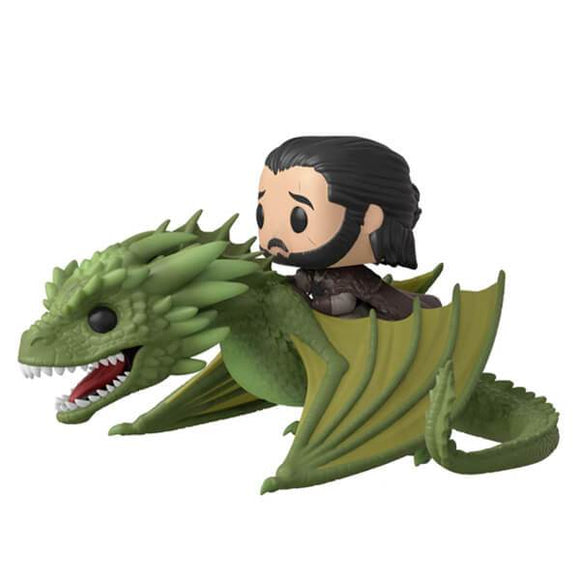Funko Pop! Game of Thrones - Jon Snow & Rhaegal - Pop Hunters Perú