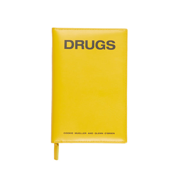 Yellow Leather Zipped Book