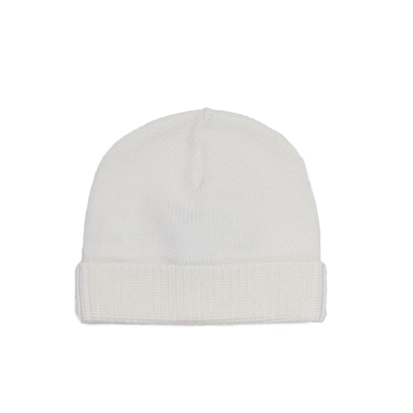 Natural White Knit Beanie