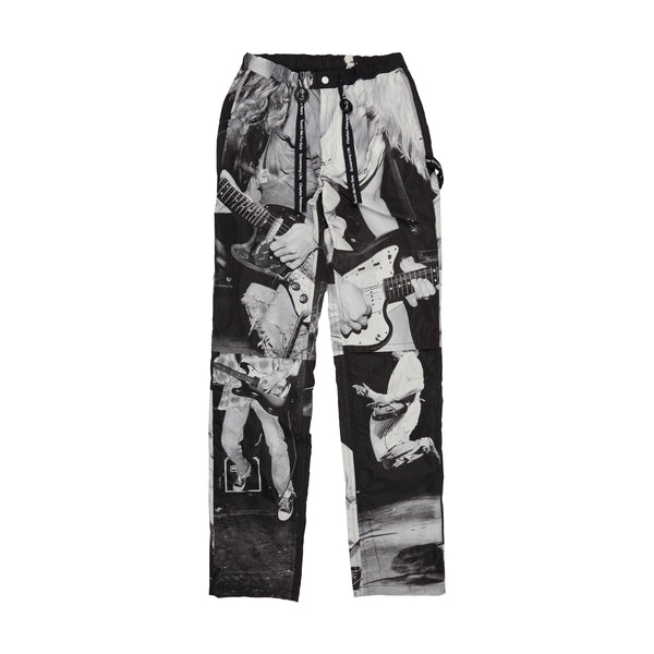 Black Kurt Double Knee Drawstring Pants