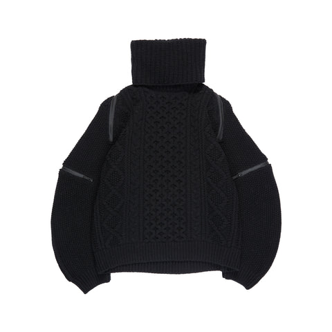 Black Coated Terry Hoodie