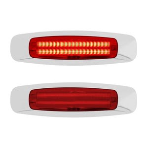 4 LED Reflector Clearance/Marker Light - Red LED/Red Lens