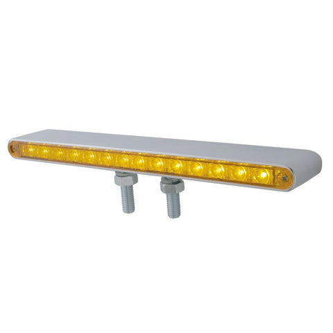 "12"" DOUBLE FACE LED LIGHT BAR AMBER FRONT & RED BACK"