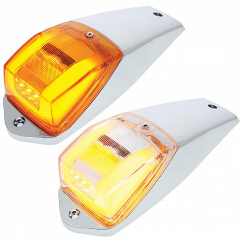 "24 Led Rectangular ""Glo"" Cab Light  Amber/clear"