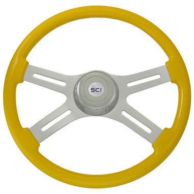 "Gold Colored 18""Steering Wheel"