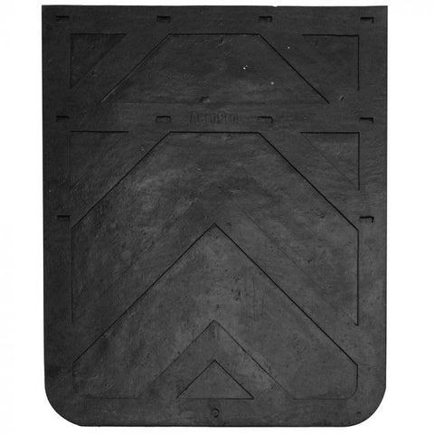 24x30 Rubber Mudflap Black Single