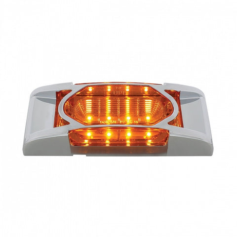 16 LED REFLECTOR CLEARANCE MARKER LIGHT WITH CHROME BEZEL