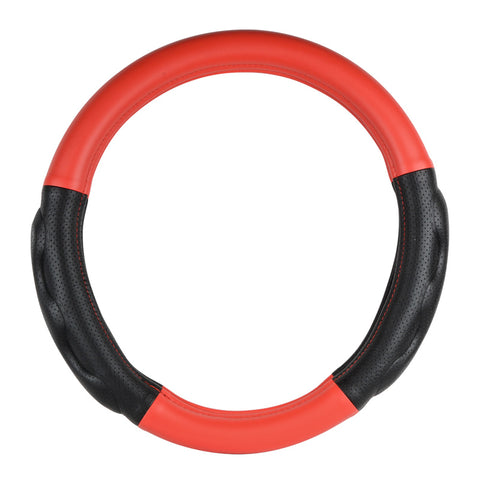 "18"" Steering Wheel Cover Matte Red W/blk"