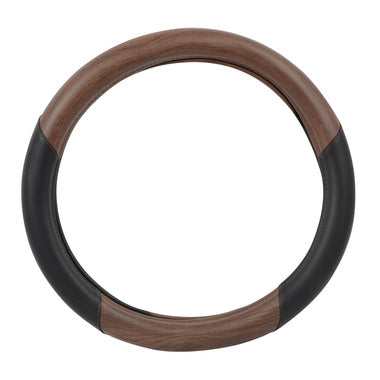 Steering Wheel Cover - Dark Wood Brown