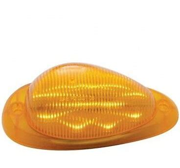 15 LED FREIGHTLINER SLEEPER CLEARANCE/MARKER LIGHT - AMBER LED/AMBER LENS