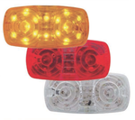 16 LED RECTANGULAR CLEARANCE MARKER LIGHT - 2 WIRES