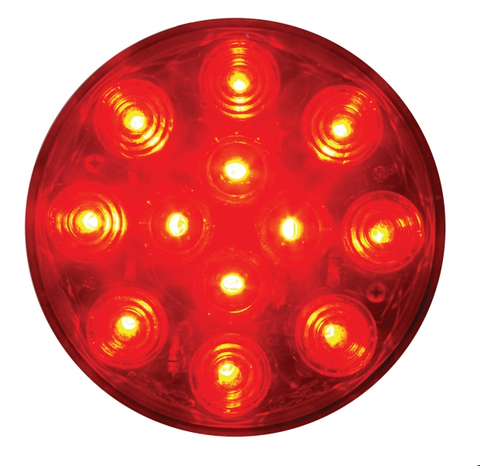 "12 LED 4"" ROUND STT LIGHT - BUBBLE LENS"