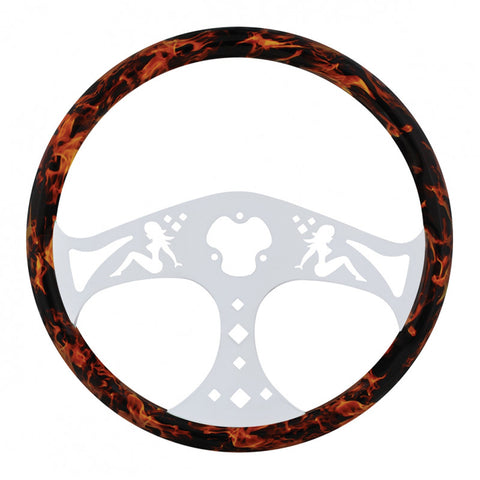 Flame Lady Steering Wheel 18""