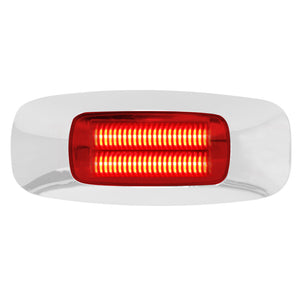 DUAL FUNCTION RECTANGULAR 3.5 INCH 4 LED CLEARANCE MARKER & TURN LIGHT