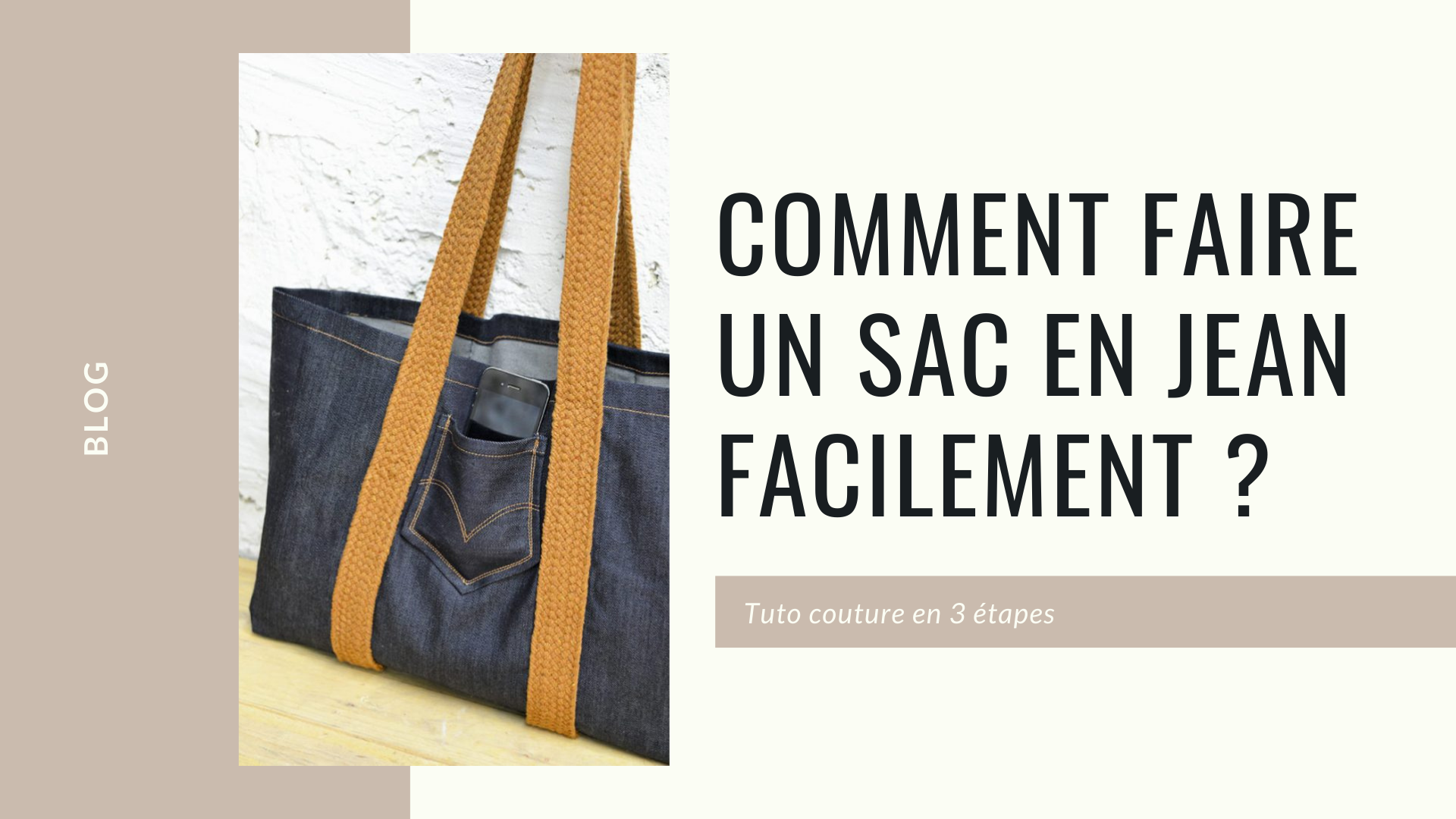 comment faire un sac en jean facilement