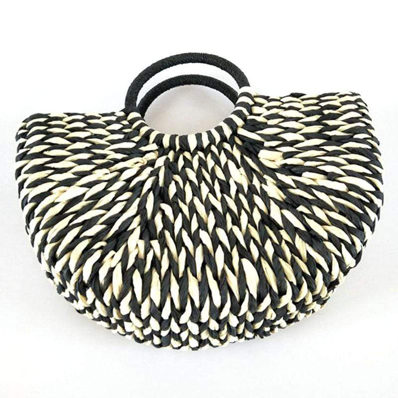 Modèle Black And White <br> Panier en paille