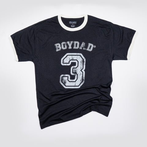 Boydad® Three Mens Game Tee Black & Cream