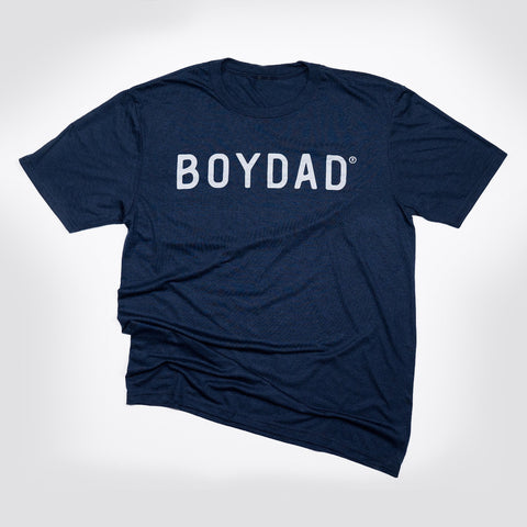 Boydad® Original Mens Crew Tee Navy & Grey