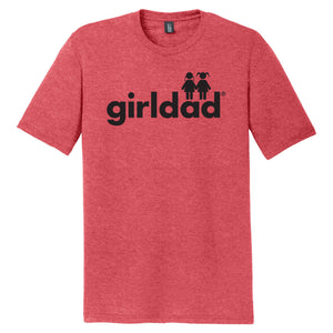 girldad® 2 Girls Mens Crew Tee Red