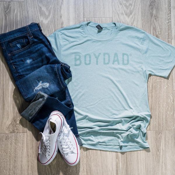 Boydad® Monochromatic Mens Crew Tee Sage on Sage
