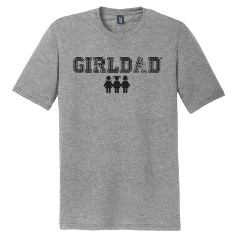 Girldad® 3 Girls Mens Crew Tee Grey