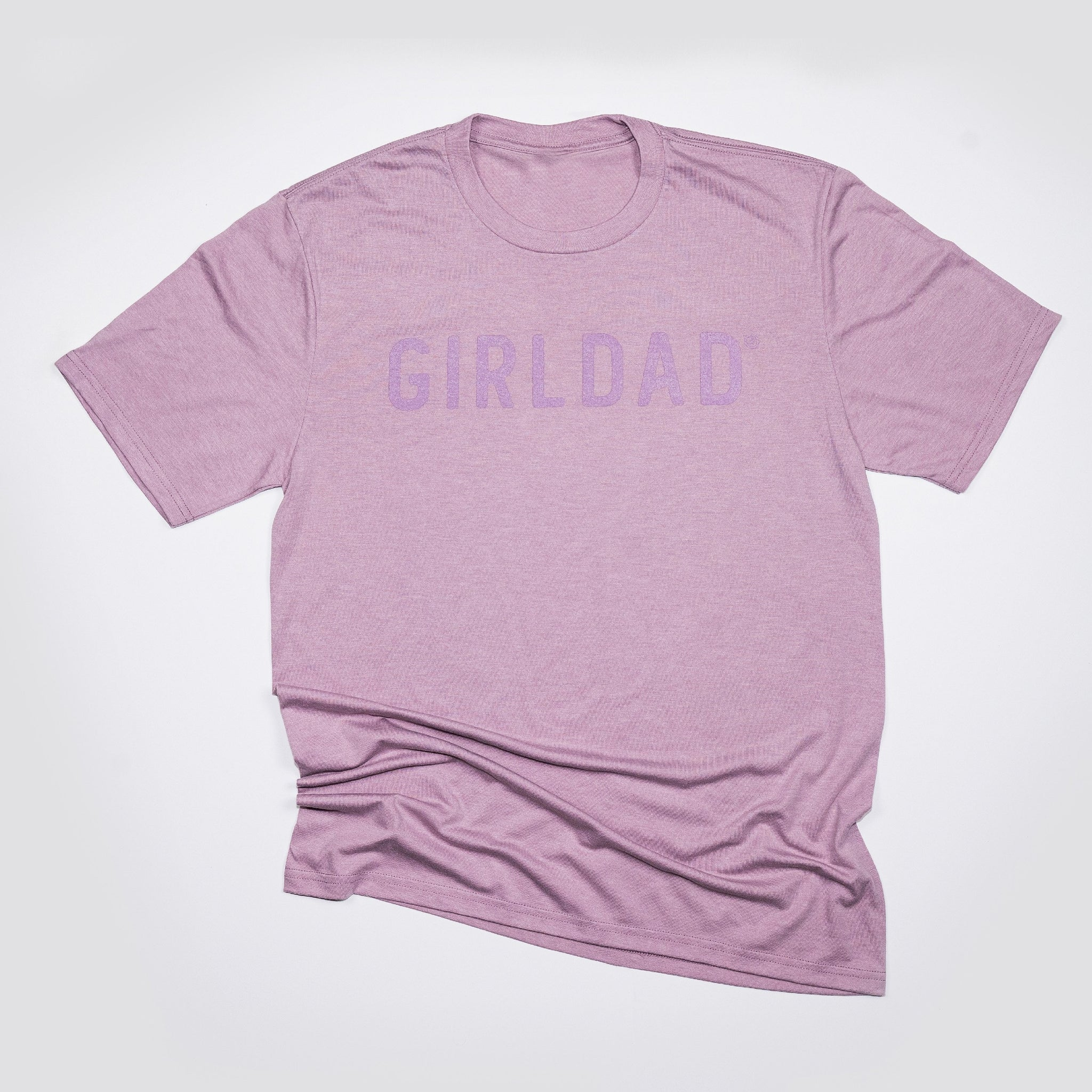 Girldad® Monochromatic Mens Crew Tee Lavender on Lavender
