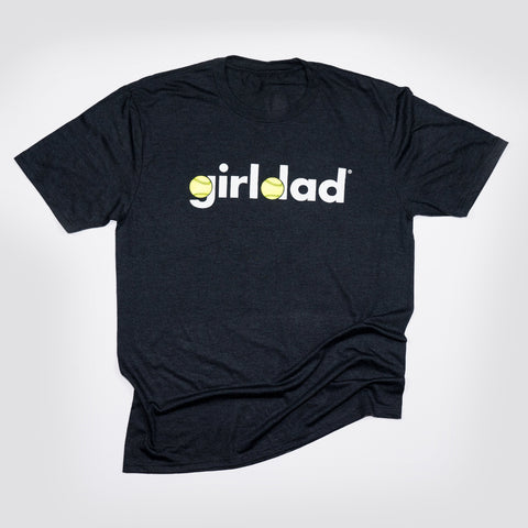 Batter Up! Girldad® Softball Mens Crew Tee Black