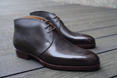 Saint Crispin's Chukka in Brown Inca Grain Leather - UK 7.5 F (Standard)