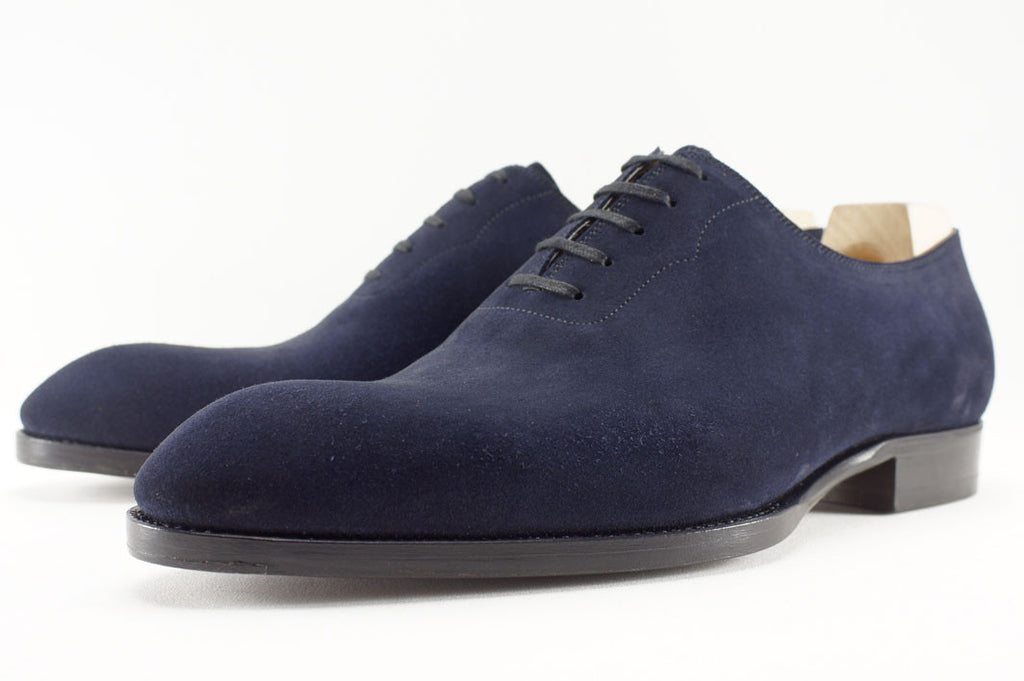 Saint Crispin's Wholecut in Navy Suede - 9.5 G (Wide)