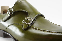Saint Crispin's Double Monkstrap in Green - UK 5.5 G & 7.5 F Available