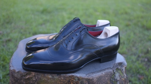 Saint Crispin's Black Captoe Oxford - UK 9.5 F (Standard)
