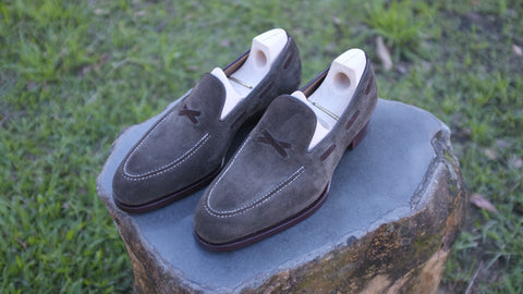 Saint Crispin's Loden Suede X Loafer - UK 8.5 F (Standard)