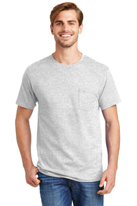 Hanes® - Tagless® 100%  Cotton T-Shirt with Pocket.  5590
