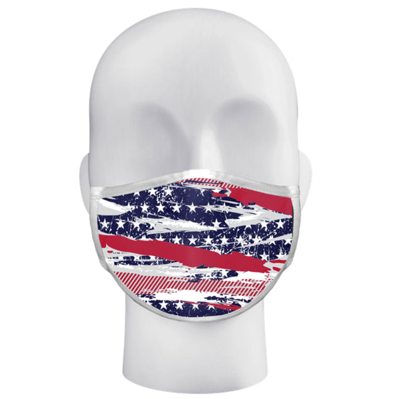 Abstract American Flag Face Mask