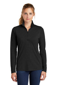 Sport-Tek ® Ladies PosiCharge ® Tri-Blend Wicking 1/4-Zip Pullover. LST407