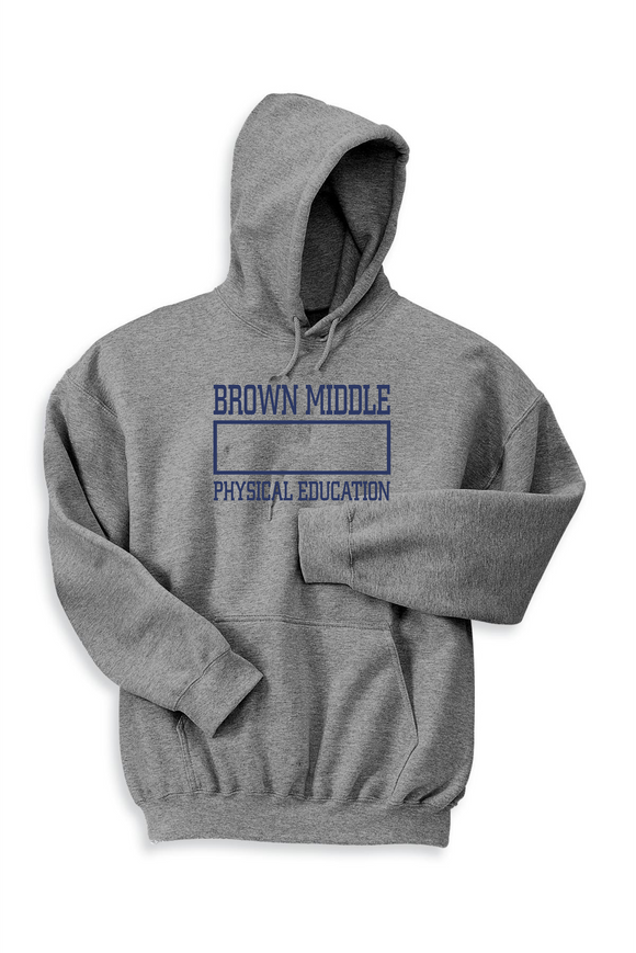 Adult Brown Middle School PE Hoodie