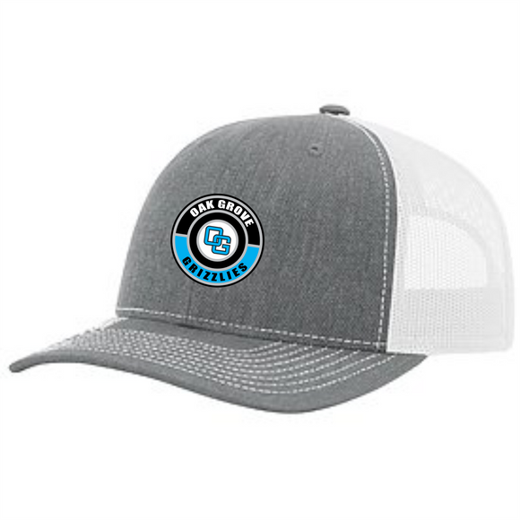Oak Grove Richardson Snapback Trucker Hat with Custom OG Rubber Patch