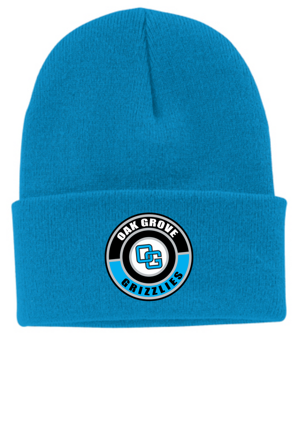 Oak Grove Knit Toboggan with Custom Rubber OG Patch