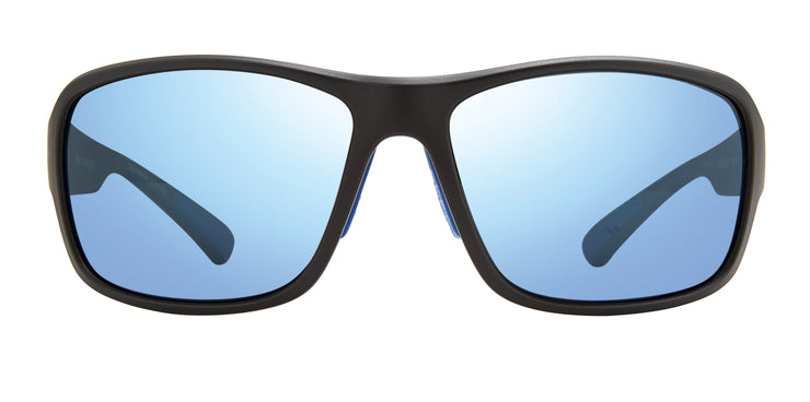 Border Sports Sunglasses in Black with Blue Water Lens Revo Sunglasses