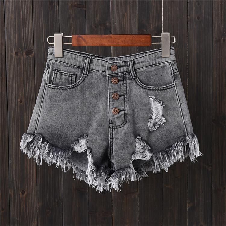 Shorts Jeans Destroyed - Preto