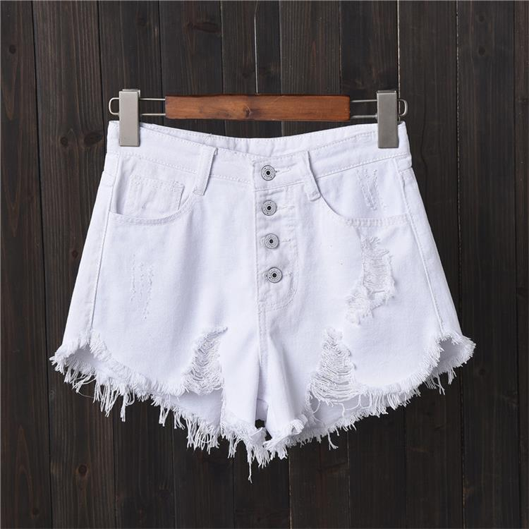 Shorts Jeans Destroyed - Branco